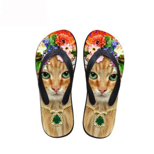 Cute Cat Design Flip Flops at The Great Cat Store