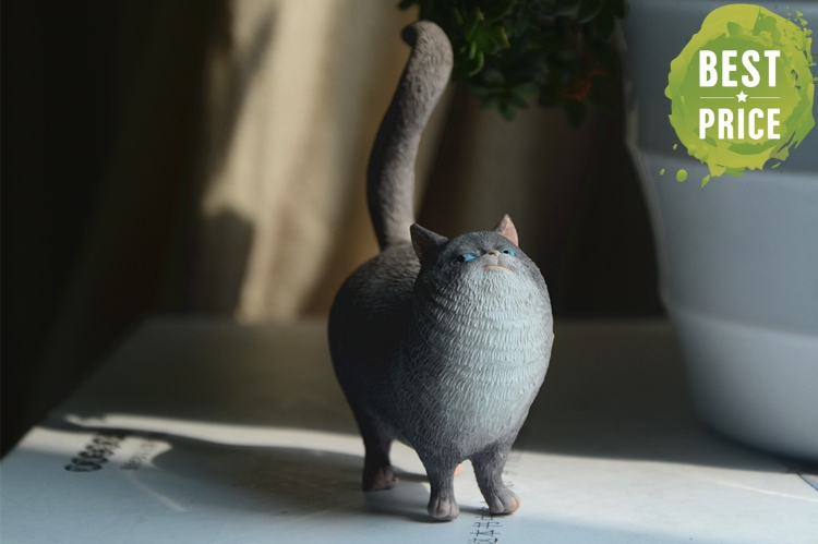 Satisfied Cat Figurine