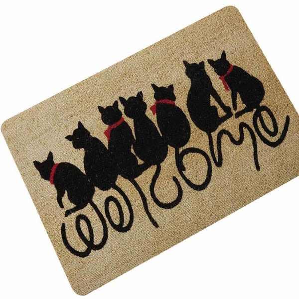 Various Black Cat Design Doormats