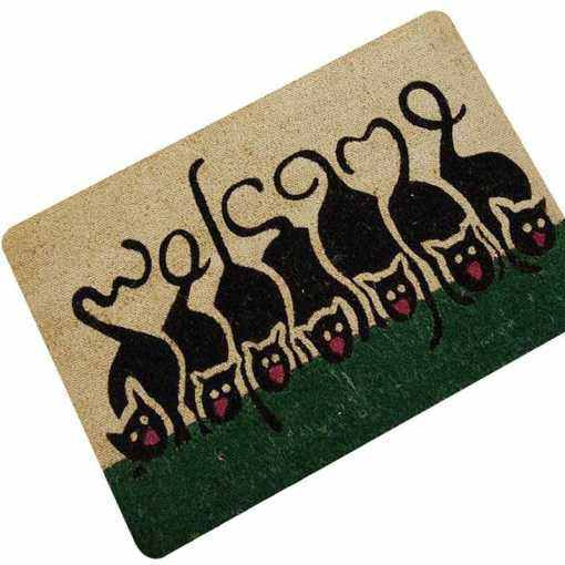 Various Black Cat Design Doormats