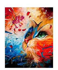 Colorful Kitten DIY Paint By Numbers Set