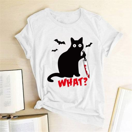Murderous Black Cat T-Shirt