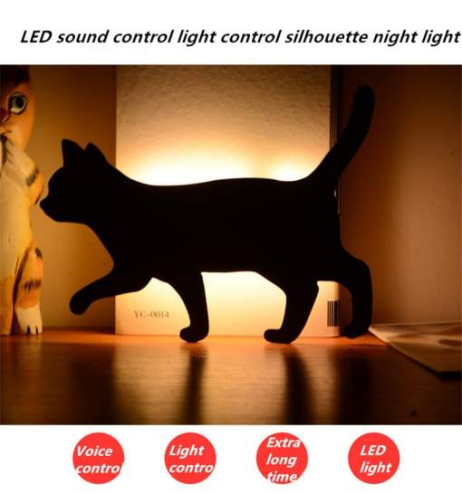 Black Cat LED Auto Control Night Light
