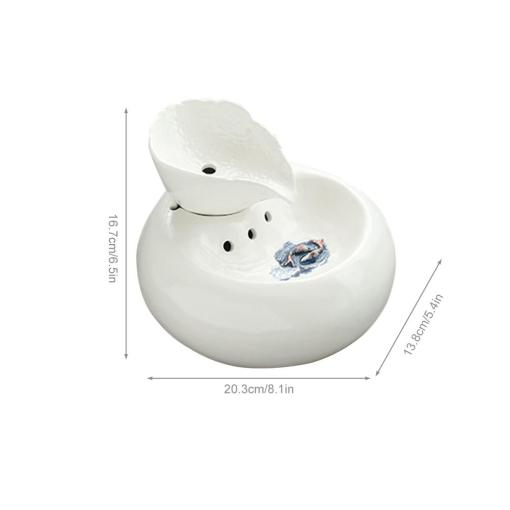 Ceramic Automatic Drinking Fountain for Cats