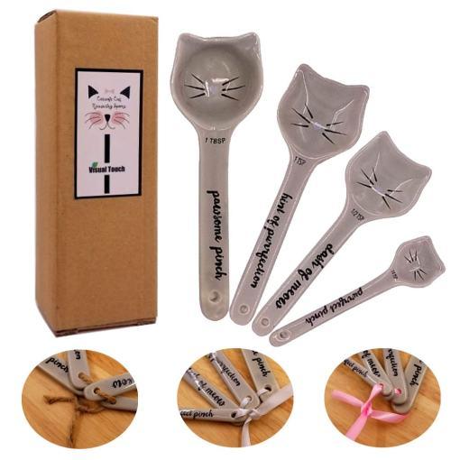 Ceramic Cat Measuring Spoons