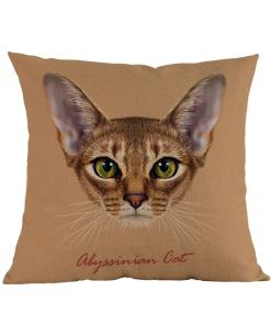 Abyssinian cat cushions
