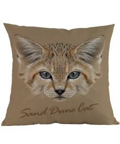 sand cat cushion cover