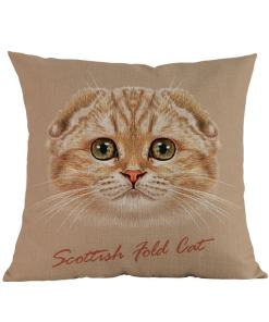 Scottish Fold Pillow Cover
