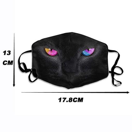 Reusable Black Cat Face Mask