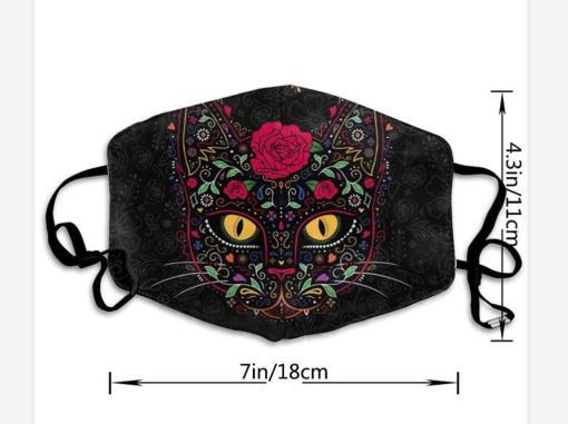 Washable Reusable Cat Print Face Mask