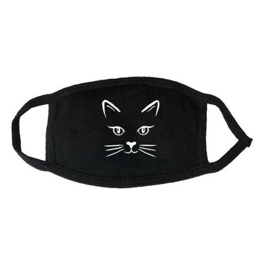 Cute Black Cat Themed Face Masks