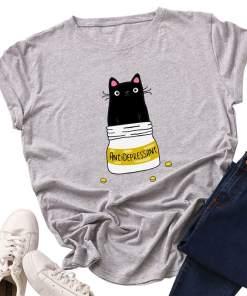 Cat Anti-Depressant Plus Size T-Shirt