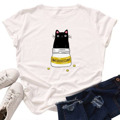 Cat Anti-Depressant Plus Size T-Shirt