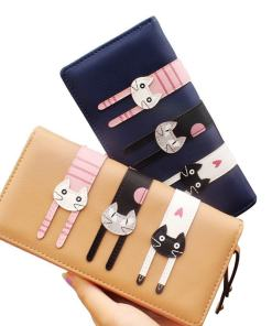 Cute Cartoon Cat Long Coin Purse Wallet
