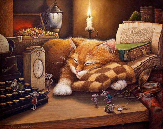Canvas Paint by Numbers Cats