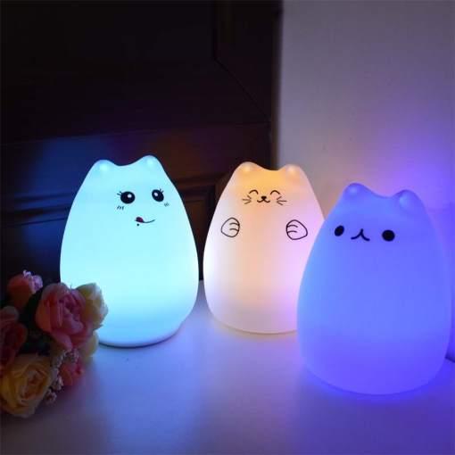 7 Colors cat night light