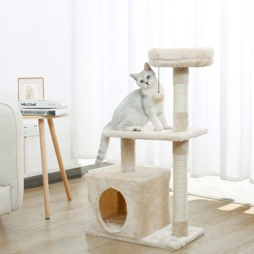 Assorted Cat Tree Climbing Hammock Condos