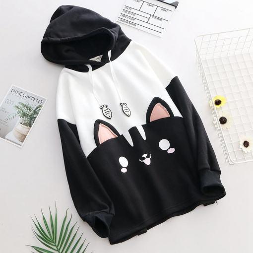 Cute Cat Face Hoodie