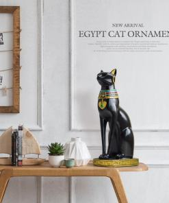 Egyptian Cat Goddess Bastet Figurine Statue
