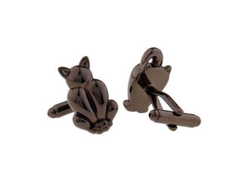 Men's Black Cat Cuff Links