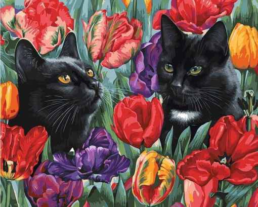 Black Cat Paint by Numbers Set