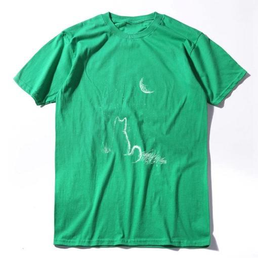 Cat Moon 100% Cotton Unisex T-Shirt