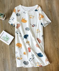 Cotton Cat Design Nightshirt