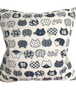 Cute Cat Face Design Cushion Covers