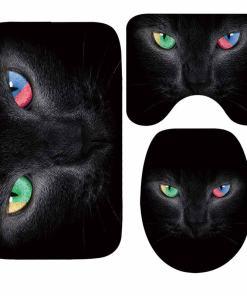 Cat Themed Anti-Slip Bath Mat Set