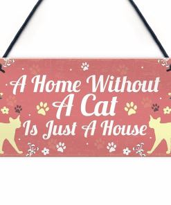 Various Wooden Cat Hanging Signs