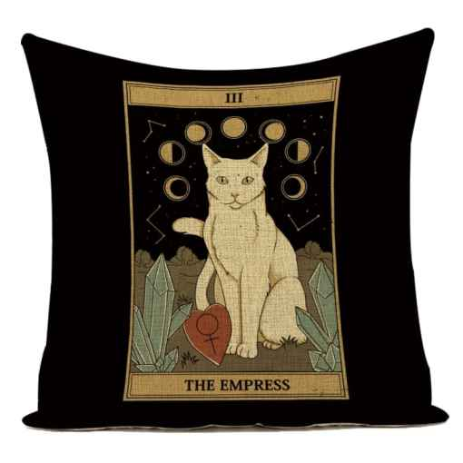 Cat Tarot Card Pattern Cushion Covers at The Great Cat Store