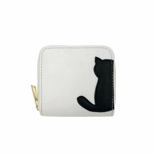 Cute Black White Cat Wallets Coin Purses at The Great Cat Store