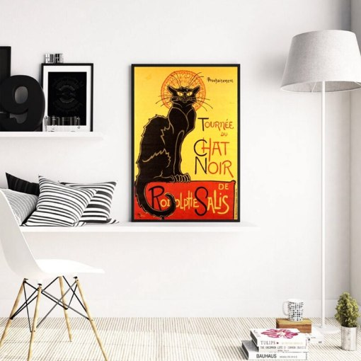 Steinlen cat art poster