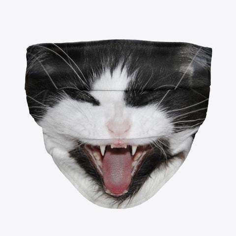 Tuxedo Cat Face Mask