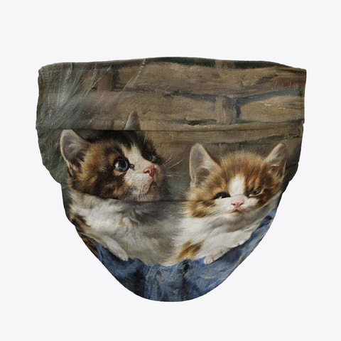 Two Kittens Face Mask