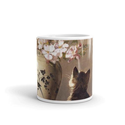 Kitten and Flowers Art Mug