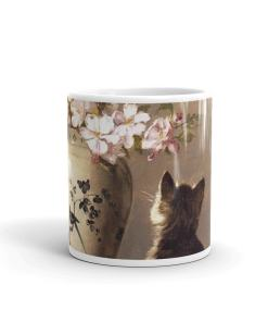 Kitten and Flowers Art Mug
