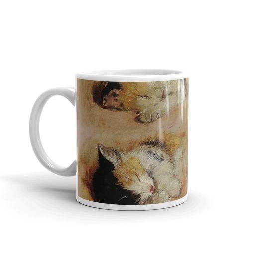 Calico Kittens Henriette Ronner Knip Art Mug