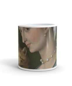 Lady and Cat Art Mug