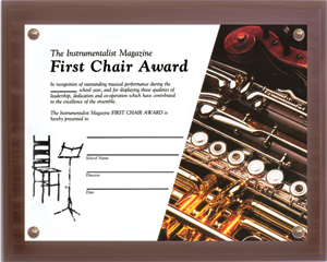 First Chair Certificate