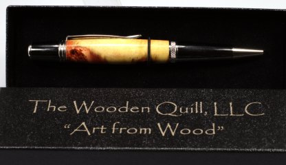 "Free Shipping - Elegant Camphor Burl ""Red River"" Rollerball Pen"