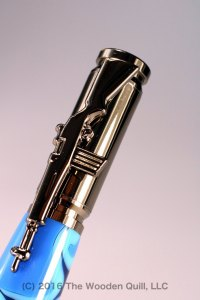 Hand Crafted 30 Cal. Carbine Bullet Pen with Navy Camouflage Barrel