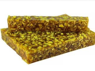 Handmade Acrylic Pen Blank - Potpourri Botanical Lemon Peel - Lemon Yellow Alumilite Resin