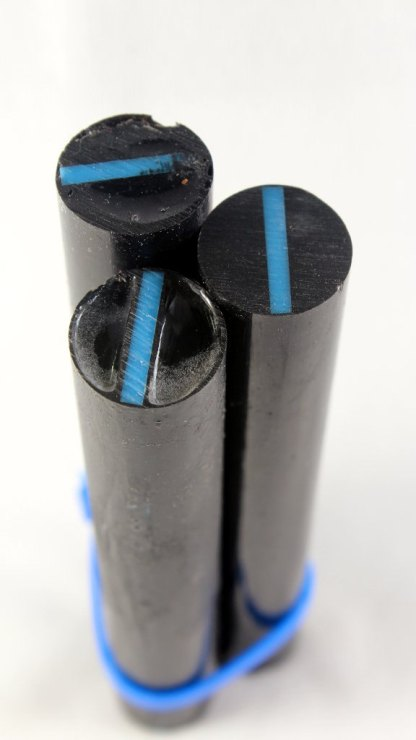 "Resin Cast First Responder Pen Blanks - ""Thin Blue Line'"