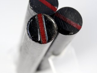 "Resin Cast First Responder Pen Blanks - ""Thin Red Line'"