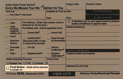 Usps Com Redelivery Service