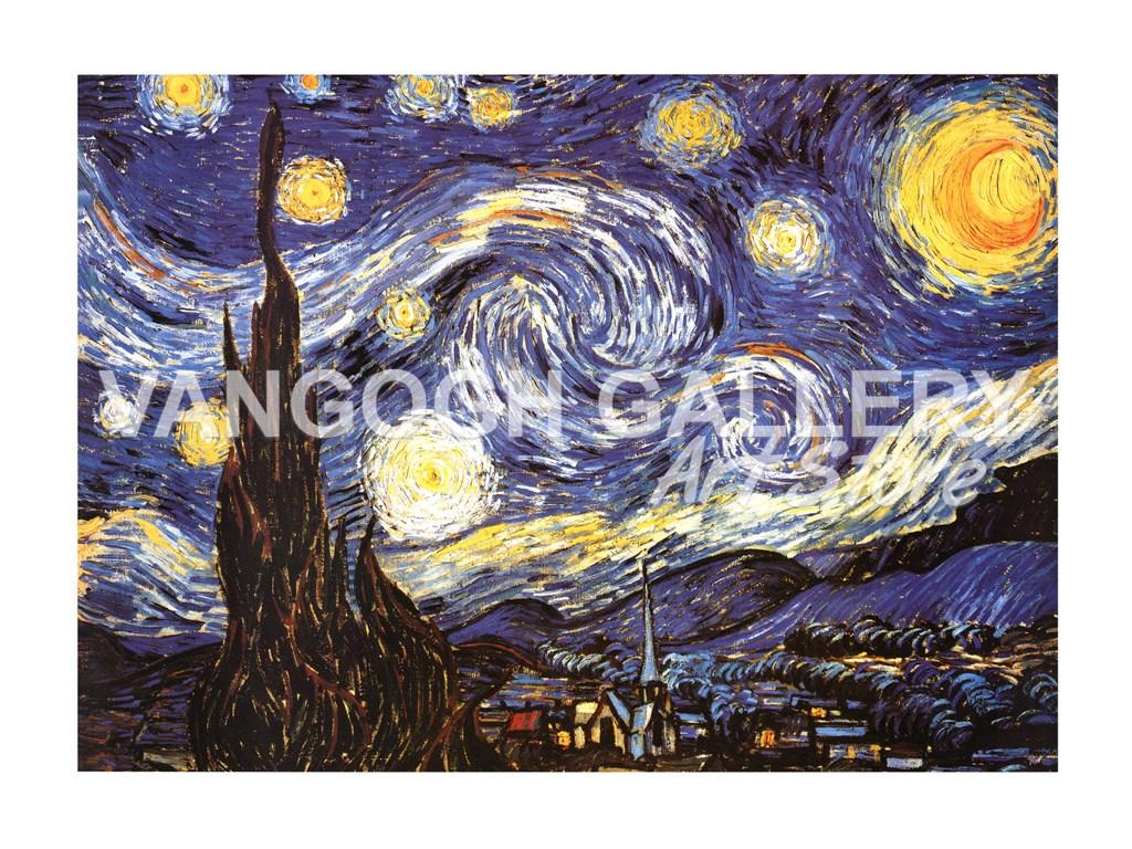 The Starry Night C Fine Art Print By Vincent Van Gogh At Vangoghgallery