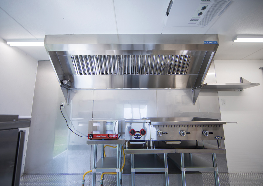ventilation direct 7 mobile kitchen hood system with exhaust fan