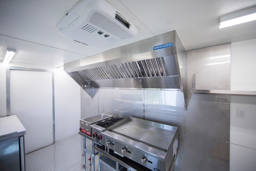 ventilation direct 8 mobile kitchen hood system with exhaust fan