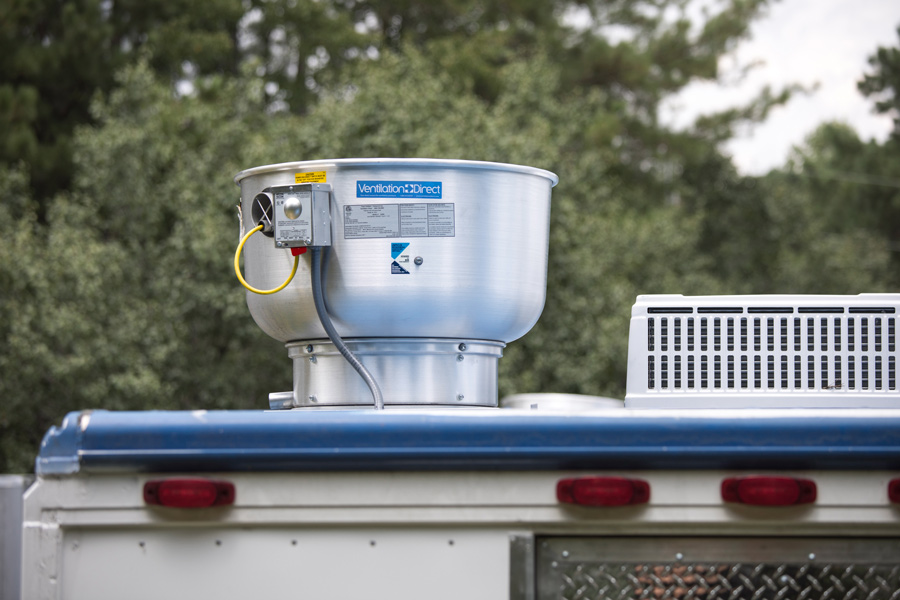 ventilation direct food truck exhaust fan 500 cfm